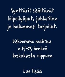 Synttärit diskossa Helsinki