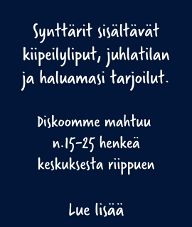 Synttärit diskossa Tampere