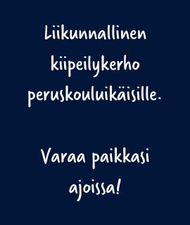 Kiipeilykerho Helsinki syksy 2020