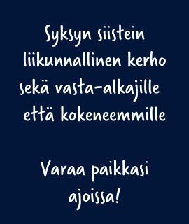 Kiipeilykerho Helsinki syksy 2021