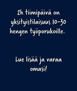 Helsinki 2h tiimipäivä