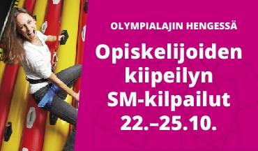 Opiskelijoiden kiipeilyn SM-kisat 22-25.10.