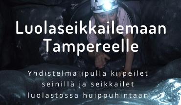 Luolaseikkailu avattu Irti Maasta Tampereella - sukella seikkailuun!